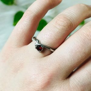Francesca's Birthstone Ruby Red Ring